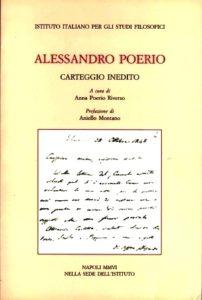 Alessandro Poerio, carteggio inedito, a cura di Anna Poerio Riverso