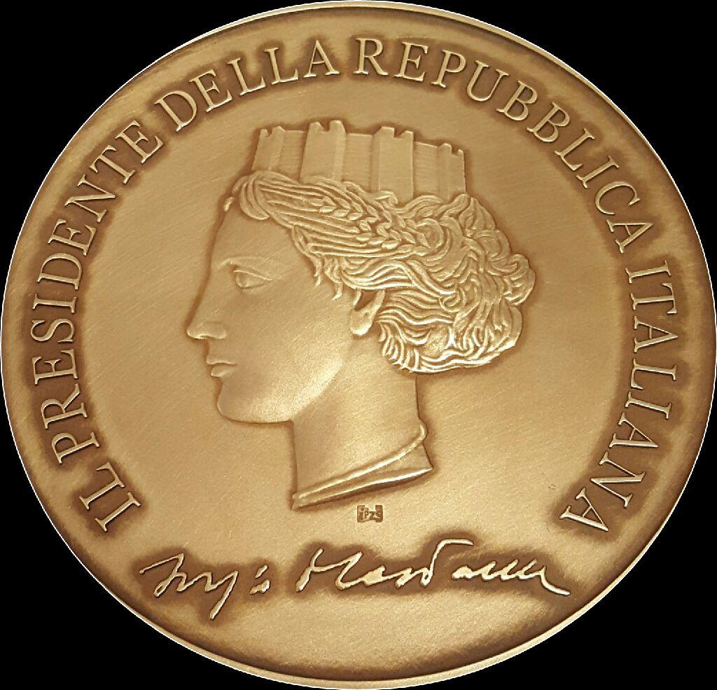 Medaglia presidente della Repubblica 150° Carlo Poerio - Fronte