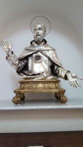 Busto in argento di San Falco con reliquia, Chiesa di Santa Maria Maggiore, Taverna