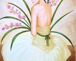 Donna con Orchidee - Anna Poerio